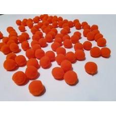 Помпоны россыпью 20мм оранж