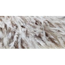 Страусиные перья на ленте бобровый