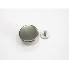 Джинсовая пуговица стальная гладкая 17 мм - блэк никель
